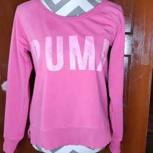Puma Pink Pull Over Sweat Shirt Size Small